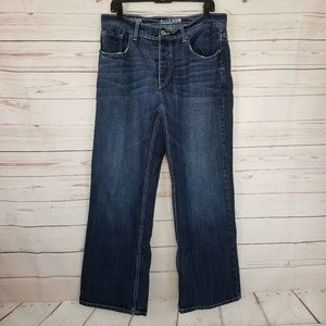 Reclaim Men's 34x30 Relaxed Boot Cut Button Fly